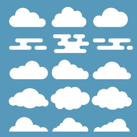 Vector illustration of white clouds Ilustrace