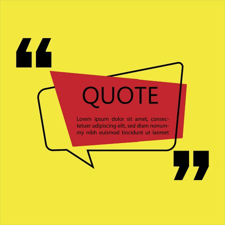 Vector illustration of quote template with text placeholder in trendy style. Paper origami card with outline bubble frame. Ready to edit design template. Reklamní fotografie - 130710579