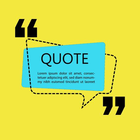 Vector illustration of quote template with text placeholder in trendy style. Paper origami card with outline bubble frame. Ready to edit design template. Ilustrace