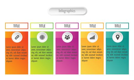 five infographics concept for business. Business data visualization