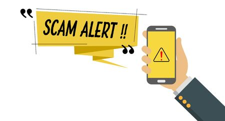 scam alert notification on smart phone