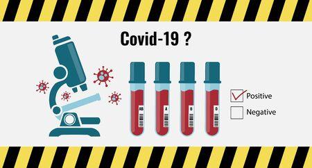 corona virus testing concept using microscope.  Coronavirus or Covid-19 is a deadliest pandemic outbreak in year 2020
