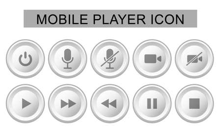 Vector illustration of mobile player icon. Symbol for communication mobile apps and web design button.