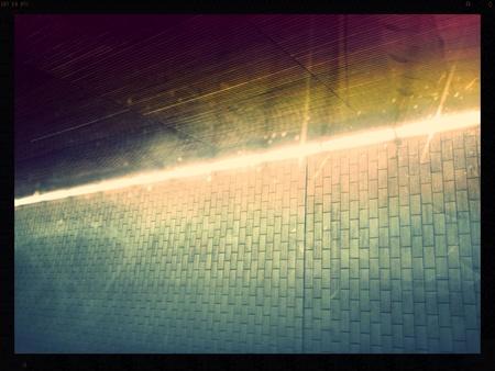 Wand van een tunnel