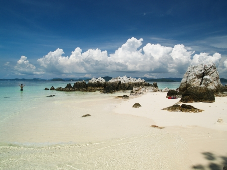 This is Koh Khai Nok, Phuket Stock Photo