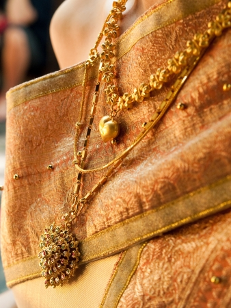 gold necklace and Thai jewelry