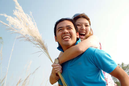 Loving young couple, beautiful and happy