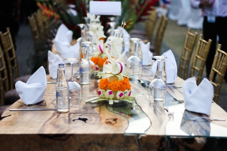 table setting and decoration,balinese style