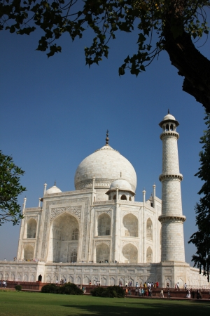 External decoration details of Taj Mahal, India photo