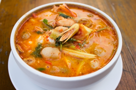 favorite soup: Tom Yum Kung-Thai spicy soup