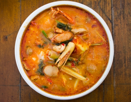 Tom Yum Kung-Thai spicy soup photo
