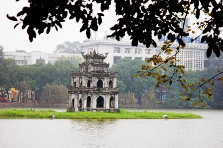 The landscape of Saigon: Hồ Hoàn Kiếm, Hà Nội, Việt Nam