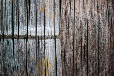 split level: old and molding bamboo background