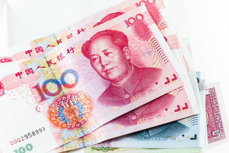 chinese yuan currency abstract background