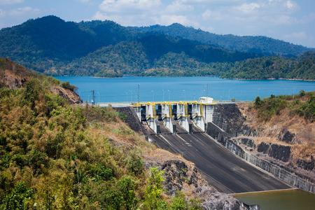 landscape of hydropower  generator, ratchaprapa dam, south of thailand