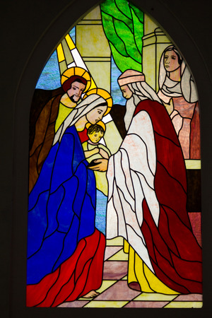 messiah: February 15, 2013-Stained glass window in the Cathedral of Sapa, Vietnam