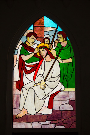 son of god: February 15, 2013-Stained glass window in the Cathedral of Sapa, Vietnam