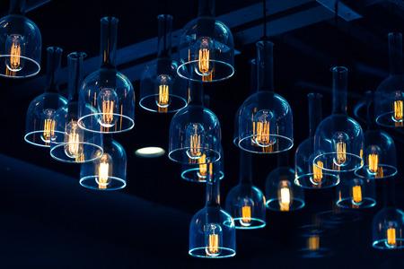 lights: interior lighting decoration - vintage bulb style Stock Photo
