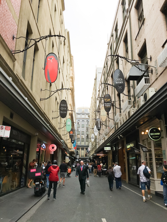 finders: Degraves Street is a laneway that runs between Finders Street and Flinders Lane, near Elizabeth Street. Close to an exit from Flinders Street Station, it is a popular place for people to stop for a coffee or snack before catching a train.