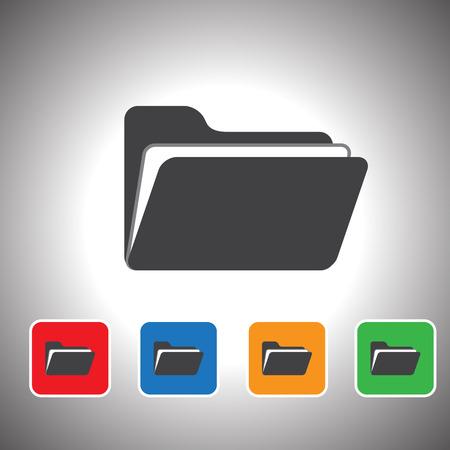 file transfer: folder icon set