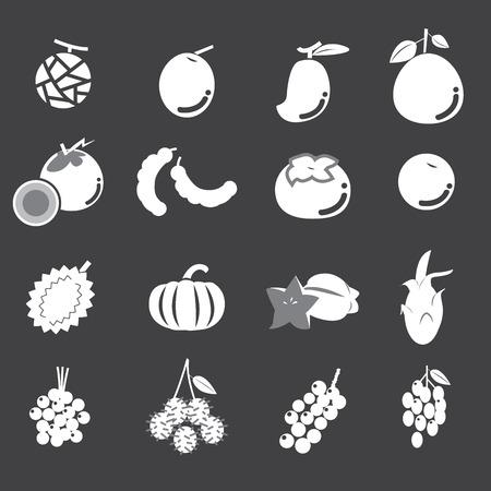 tamarindo: conjunto de iconos de fruta