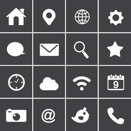 basic application web Icons Vector