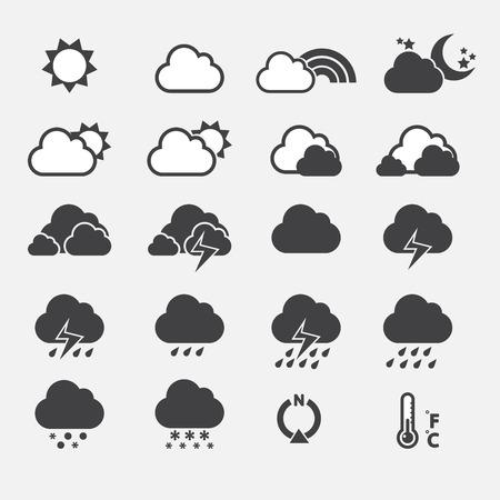 sun set: Weather Icon Illustration