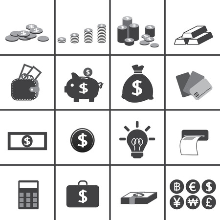 baht: business and money icon Illustration