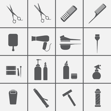 hair product: Hairdressing equipment icons