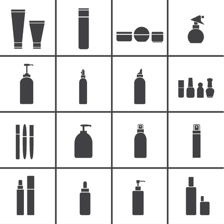 Cosmetic flasks icons Vector