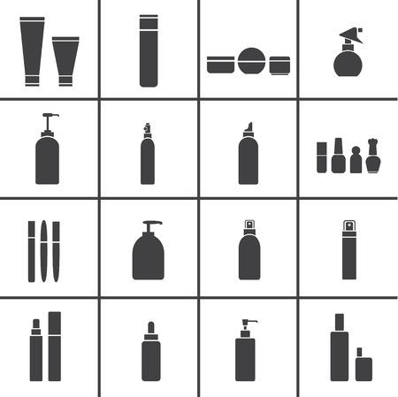 Icone boccette cosmetiche