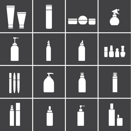 Cosmetic flasks icons Ilustrace