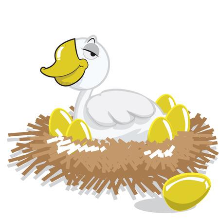 uova d oro: anatra e uova d'oro