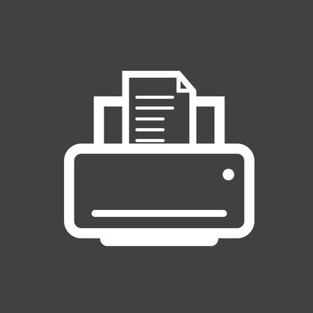 laser printer: printer icon. Illustration