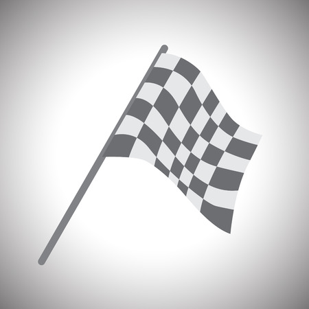 two crossed checkered flags: Checkered Flags .vector Illustration