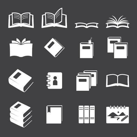 books icon set Vector