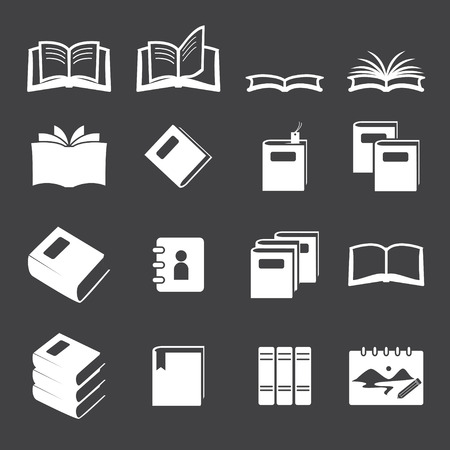 phonebook: books icon set