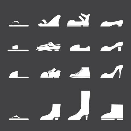 needle laces: vector.shoes icon set Illustration