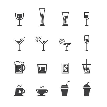 capacity: drink icon set