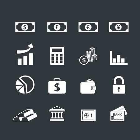 Finance Icons set Vector
