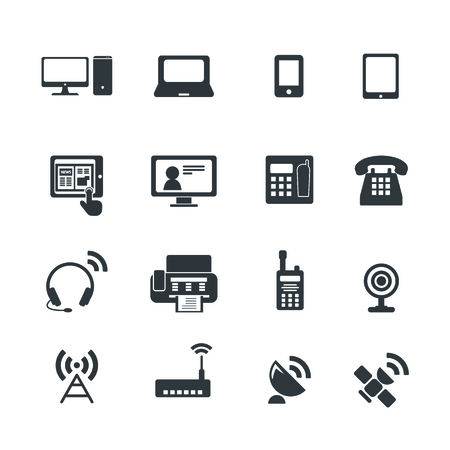 wi fi icon: Communication device icons