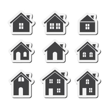 house icon: house icon set