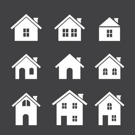 architecture pictogram: house icon set