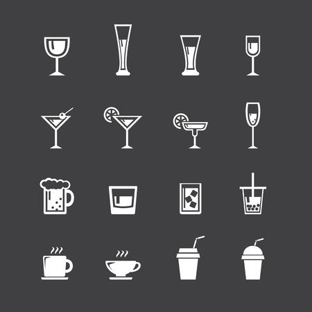 whisky bottle: drink icon set