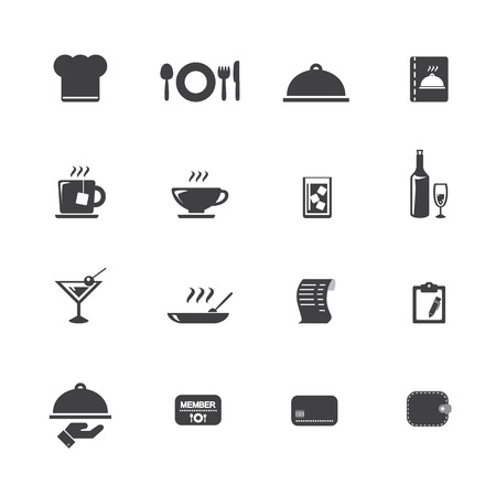 restaurant table: Restaurant icons