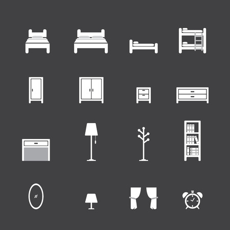 side table: bed icon