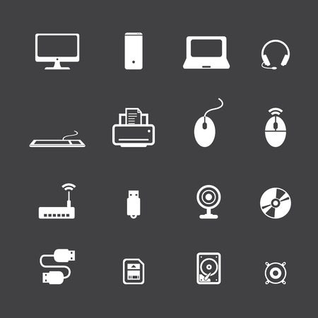 lcd monitor printer: computer icons