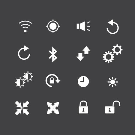 contraction: telephone icon Illustration