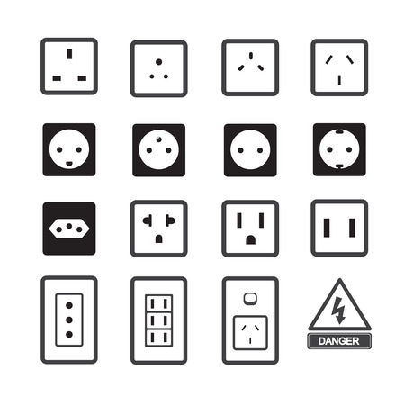 adapter: Electric outlet and plug icon