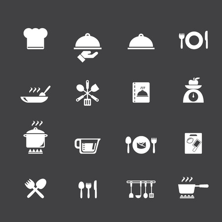Cooking and kitchen icons Фото со стока - 32871108